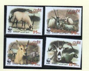 Jordan 2005 WWF Arabian Oryx Antelope Animals Wildlife  Set MNH