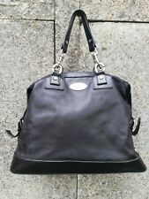 AUTHENTIC CELINE PARIS VINTAGE BLACK LEATHER HANDBAG