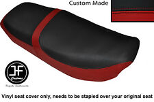 DARK RED &BLACK VINYL CUSTOM FOR HONDA CB 650 SC NIGHTHAWK 82-85 DUAL SEAT COVER