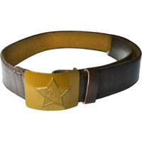USSR Soviet Army Belt Soldier Canvas Faux Leather with Green Buckle