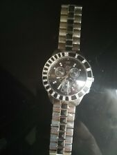 CHRISTIAN DIOR Christal Black diamond mans chronogragh watch excellent condition
