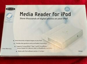 Vintage Belkin Media Reader for iPod New In Box