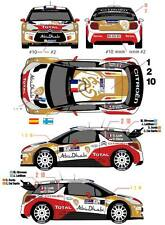 1/43 Decal Citroen DS3 WRC #1/2/10 Rally Argentine 2013