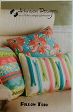 PILLOW TRIO QUILTING PATTERN, Home Decor- Pillows From Atkinson Designs