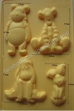 Winnie the Pooh and Friends Chocolate Fondant Gum paste Silicone Mold Molder