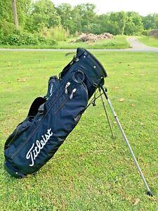 Titleist Golf Bag - stand Black very light Weight Sunday Bag moon lite carry USA