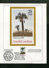 1788-1988 South Carolina Bicentennial Of Rat Of Constitution Walterboro Sc P/M