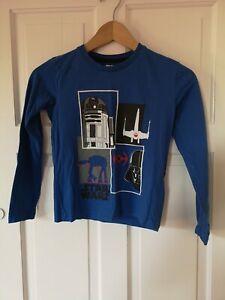 Star Wars Long Sleeve T shirt. Blue. 6-8 Years. Fast Post!!