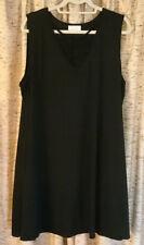 Bobbie Brooks black sleeveless short dress, side pockets, Plus size 3X