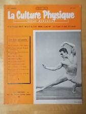 LA CULTURE PHYSIQUE bodybuilding muscle magazine/SERGE MARTINET 7-61