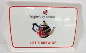 LP99648 Frightfully British 'Lets Brew Up' White Tray- Great Price!