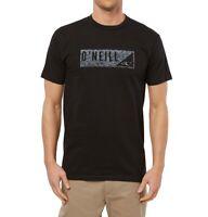 O'Neill Mens T-Shirt Black Size 2XL Wedge Logo Graphic Crewneck Tee $22 137