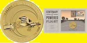 * Australia 1 dollar 2010 Centenary of Flight * Plain * Al-Br Unc PNC