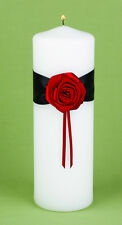 Midnight Rose Romantic White Unity Candle with Tapers Wedding Candles
