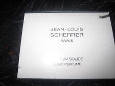 JEAN-LOUIS SCHERRER PARFUM SOLIDE RARE SOLID PERFUME BOX HOUSSE POUCH NEUF NEW