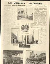 69 LYON STE DE MATERIEL D'ENTREPRENEURS LES CHANTIERS DE GERLAND 1924