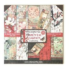 """Scrapbook Paper Pad By Stamperia, Oriental Garden, 10 Double Sided Pages, 8x8"""""""