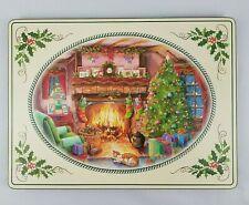 Pimpernel Christmas Placemats Retired Fireside Sleeping Cat Cork Back Set of 4