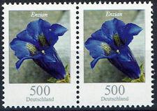 2877 ** , BRD 2011, Blumen. Enzian waagrechtes Paar