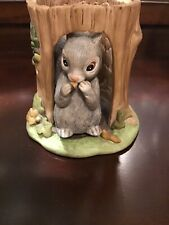 Franklin Mint Woodland Surprises Squirrel In Tree Figure 2 Pc 1984