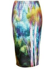 TOPSHOP PETITE ABSTRACT RAINBOW TUBE PENCIL BANDAGE SKIRT XS UK 6 BNWT RARE