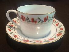 TIFFANY & CO. LIMOGES CUP AND SAUCER TIFFANY POPPIES