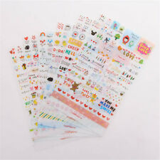 6 Sheets DIY Word Expression Diary Album Sticker Calendar Card Scrapbooking Gift