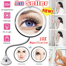 10X Magnifying Makeup Mirror Suction Wall Mount 360 Swivel Rotation LED Light AU