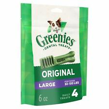 Greenies Original Dental Large Treats for Dogs 50-100 Pounds 4 Count