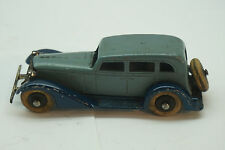 VINTAGE TOOTSIETOY CAR GRAHAM 3 WINDOW SEDAN 5 WHEEL BLUE DIECAST TOY USA
