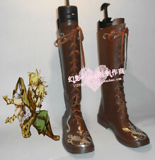 Vocaloid Kagamine Len Brown Halloween Long Cosplay Shoes Boots H016