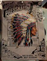 NEW Vintage IMPKO PRESSKALS ~ Native American Indian Head ~NOS Decal
