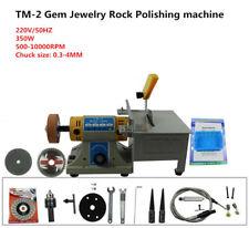 TM-2 Gem Jewelry Rock Bench Polishing grinding machine Bench Lathe Polisher 220V