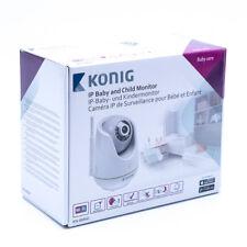 König KN-BM60 Kamera Überwachung IP-Babyphone Audio / Video 2.4 GHz Weiss/Grau