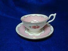 Antique - COALPORT - Pink Floral - Tea Cup And Saucer Set