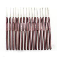 16 piezas de Ganchos de ganchillo de Manija ABS Conjunto de agujas de tejer L9S1