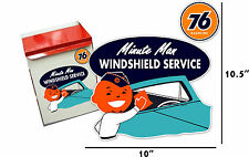"(UNIO-STA-1) 10"" STICKER UNION 76 GASOLINE STATION WINDSHIELD TOWEL BOX DECAL"