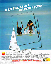 PUBLICITE ADVERTISING 065  1980  KODAK   photo sur papier couleur