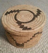 Papago Pima Native American Lidded Basket