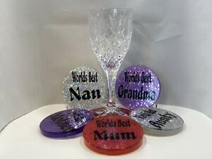 Personalised Handmade Sparkly Resin Coaster to Celebrate the Women in Your Life