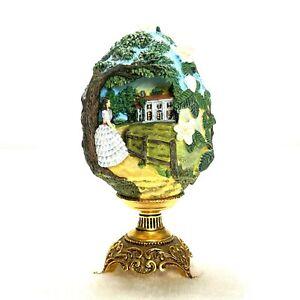 1998 Gone With The Wind Franklin Mint Faberge Egg Scarlett of Tara O'Hara