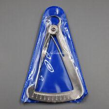 Dental Lab Wax Steel Metal Crown Gauge Caliper Ruler Measuring Scale Spring
