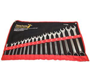 17pcs 10-32mm Combination Spanner Set Ring & open Ended Wrench set Lifetime!!