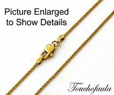 14K Solid Yellow Gold Sparkling Diamond Cut Tornado Chain 20 inches 2.5 grams