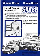 Land Rover Accessory Overdrive Unit Late 1970s UK Market Leaflet Sales Brochure