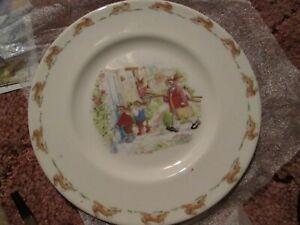 """Bunnykins Royal Doulton Going Fishing plate 8"""""""