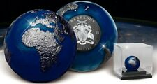 Barbados 2021 5$ Blue Marble at Night 3oz Silver Coin