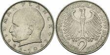Deutschland BRD 2 Deutsche Mark 1957 G Karlsruhe Max Planck 1858-1947 Jaeger 392