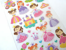 Small Glitter Princess Stickers childrens labels for kids craft PVC18