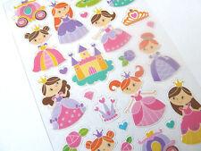 Piccoli Glitter Princess per bambini Adesivi Etichette per bambini Craft pvc18